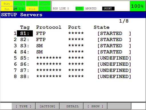 Configuration of the driver — Fanuc support in ROS-Industrial 0 4 0